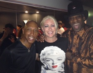 Minneapolis resident Marty Bragg, center, with Jeffrey Osborne and Jellybean Johnson of The Time