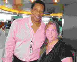 Tony Cornelius &  Boca Raton resident Terri Appell on the Soul Train Cruise