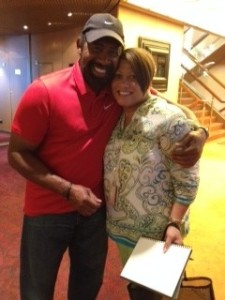 William Knight of the Commodores with Seattle resident Adele Holifield on the Soul Train Cruise